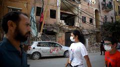 Beirut, pendiente de la ayuda humanitaria para la reconstrucción