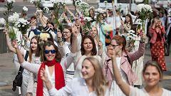Las cadenas humanas se multiplican en Bielorrusia contra la represión tras la victoria de Lukashenko en las elecciones presidenciales