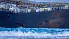 Se parte en dos el buque que encalló hace un par de semanas frente a las costas de Mauricio
