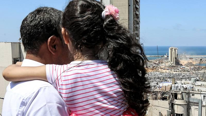 La explosión de Beirut deja a miles de personas sin hogar, muchos de ellos niños