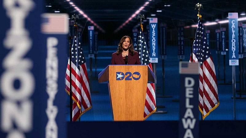 Kamala Harris hace historia en EE.UU. al aceptar oficialmente la nominación demócrata a la Vicepresidencia
