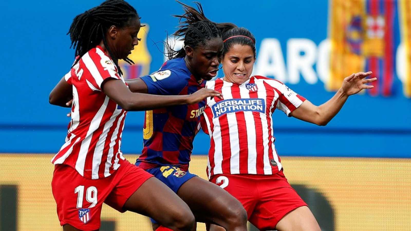 Atlético y Barcelona, ante su enfrentamiento en cuartos de Champions