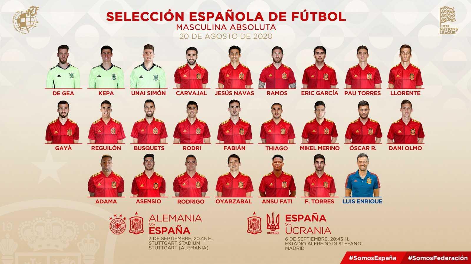 Luis Enrique revoluciona con juventud la selección española