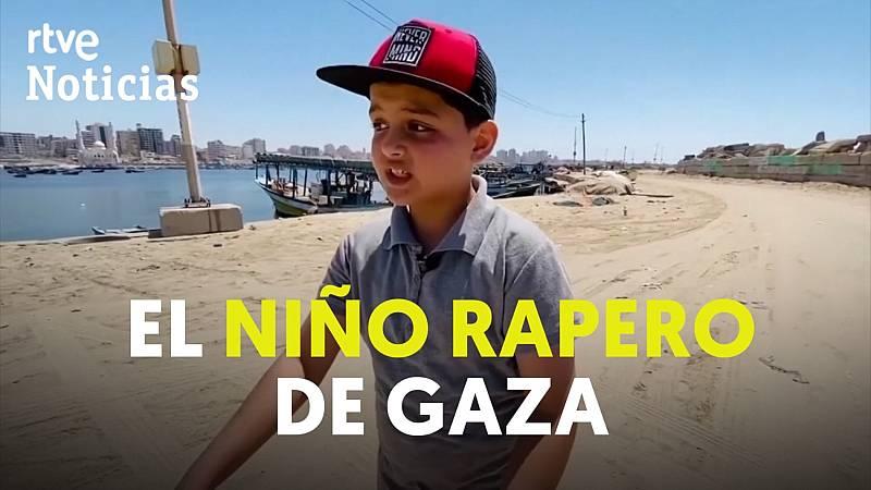 Abdel-Rahman Al-Shanti, el niño rapero de Gaza
