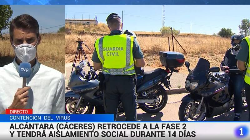 Los vecinos de Alcántara, aislados durante 14 días tras detectar un brote de coronavirus con 42 contagios