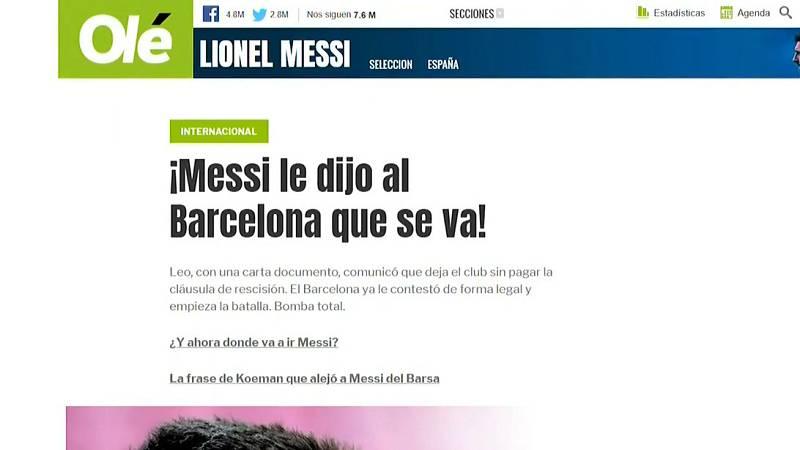 Conmoción en Argentina por la intención de Messi de dejar el Barça