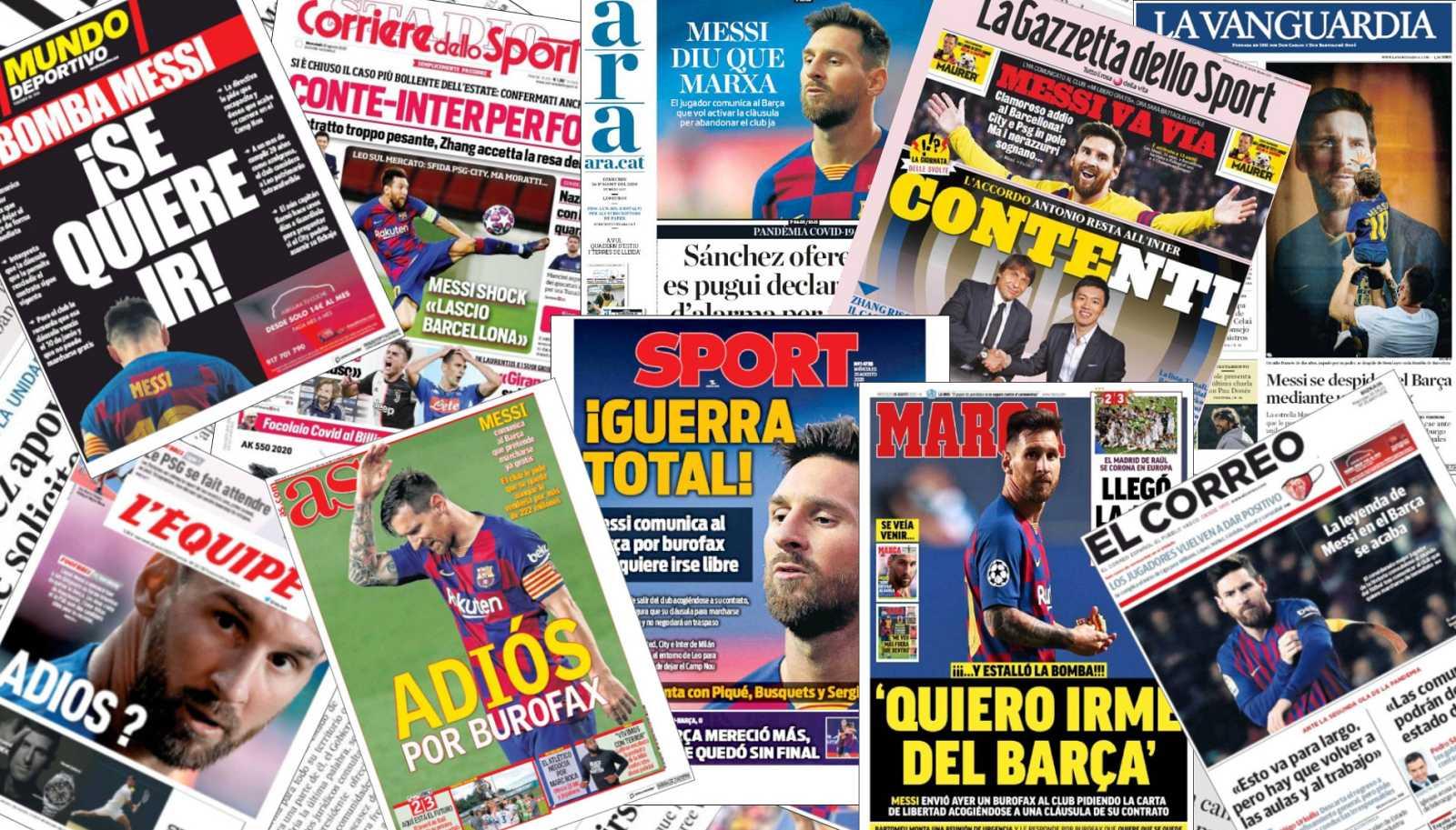 El mensaje de Messi al Barça sacudió las redacciones de medio mundo
