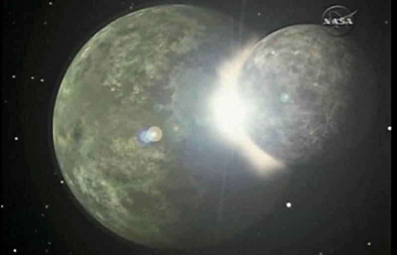 El Spitzer capta restos de un choche de planetas