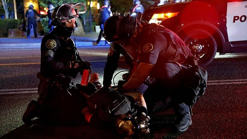 Los disturbios y protestas contra el racismo entran en la campaña electoral de EE.UU.