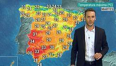Las temperaturas máximas suben pero se quedan por debajo de los 30 grados