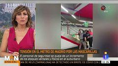 Enfrentamientos en el Metro de Madrid por las mascarillas