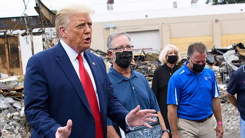 """Trump lleva su """"ley y orden"""" a Kenosha"""