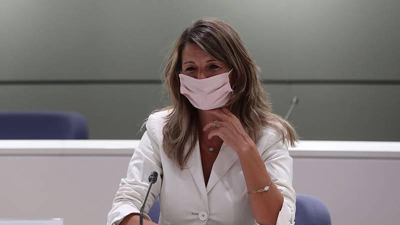 """Díaz asegura que los ERTE se extenderán """"hasta cuando sea necesario"""" mientras haya """"incertidumbre sanitaria"""""""