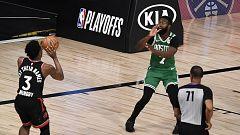 Los Raptors ganan a Celtics con un triple sobre la bocina