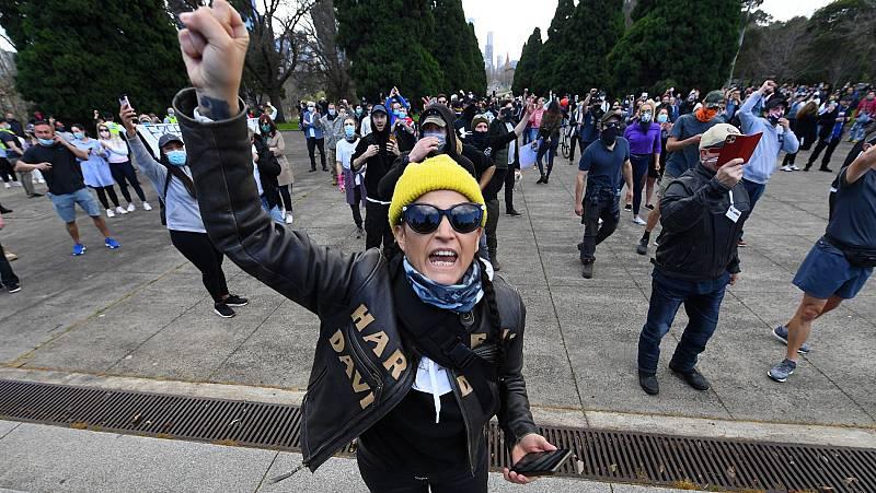 Las protestas negacionistas del coronavirus se extienden por el mundo