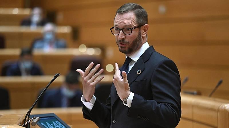 """Maroto advierte a Sánchez: """"El PP no es una muleta para que usted se siga manteniendo como cabeza de este Gobierno de coalición"""""""
