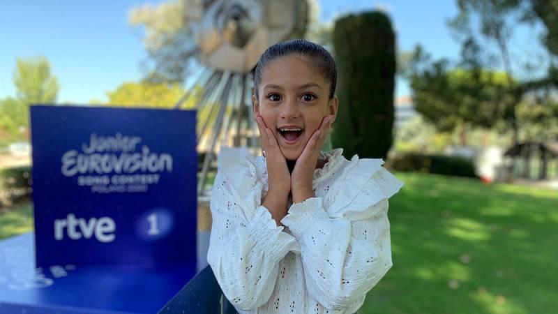 Eurovisión Junior 2020 - Reacción de Soleá al saber que representará a España