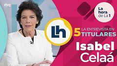 La entrevista a Isabel Celaá en 'La hora de la 1' de TVE, en cinco titulares
