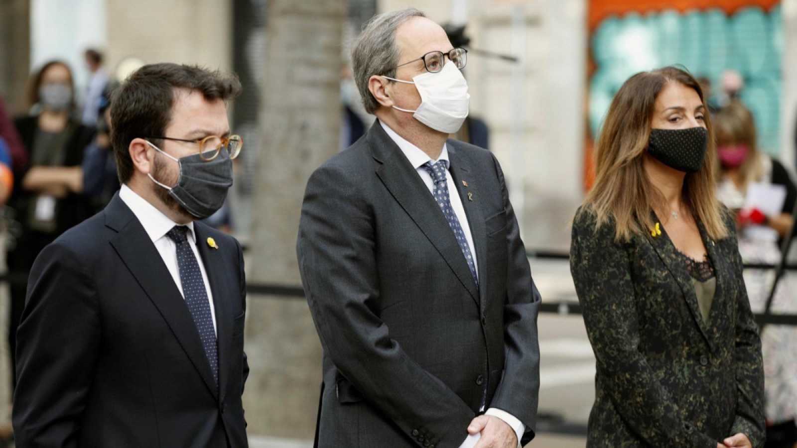 """Torra pide """"unidad"""" frente a un Estado """"autoritario y vengativo"""" en una Diada marcada por el coronavirus"""