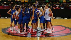 Así entrenan las jugadoras para la Supercopa femenina de baloncesto