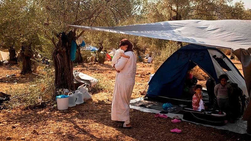 Grecia: Abren un nuevo campo provisional para los refugiados en Lesbos