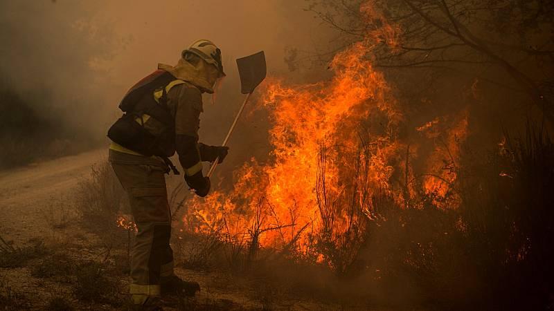 Más de 2.000 hectáreas quemadas en nueve incendios en Ourense