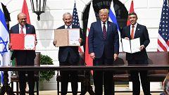 Israel, Emiratos Árabes Unidos y Baréin firman los Acuerdos de Abraham en la Casa Blanca