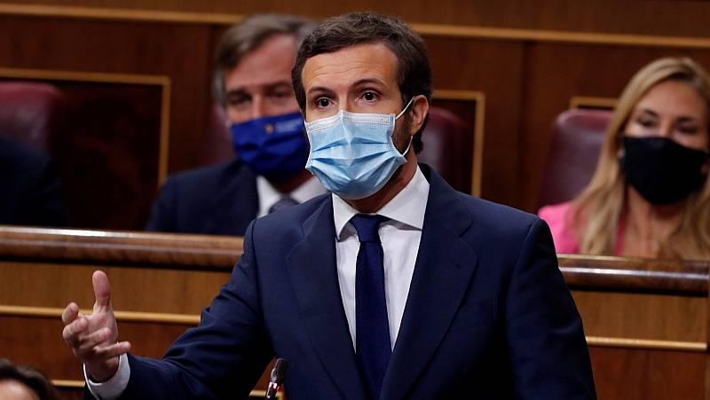 """Casado echa en cara los """"recortes"""" a Sánchez, que contesta: """"Lo único que hay que recortar es la corrupción del PP"""""""