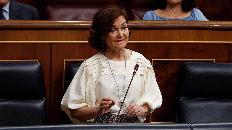 Calvo y Gamarra se acusan de deslealtad mutua en un duro cara a cara en el Congreso