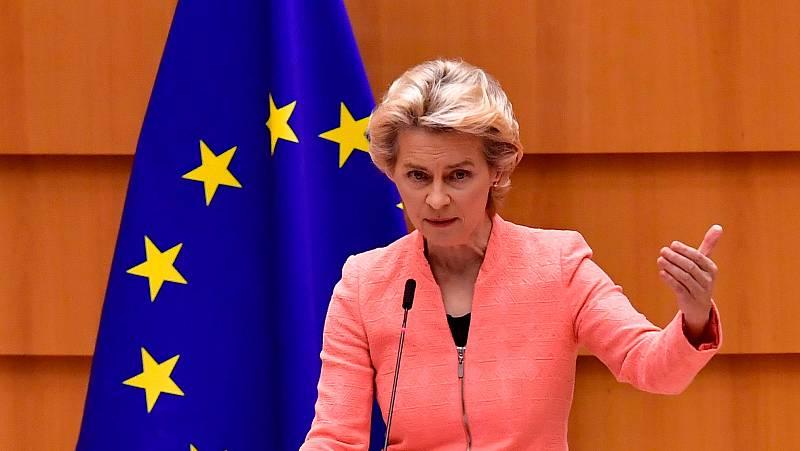 La pandemia y sus consecuencias económicas centran el discurso de la presidenta de la Comisión Europea