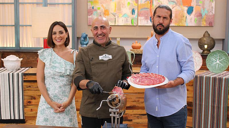 """Cocina al punto con Peña y Tamara - Jamón ibérico """"Dehesa de Extremadura"""" - ver ahora"""