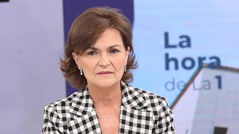 """Calvo, sobre la mesa de diálogo con Cataluña: """"En esa mesa en esa condición solo se podrá sentar quien no esté inhabilitado"""""""