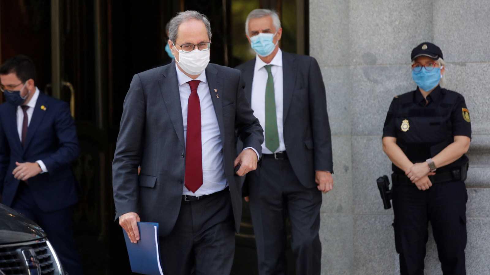 """Torra pide su absolución por """"falta de imparcialidad"""" y por considerar que fue condenado por un """"acto político"""""""