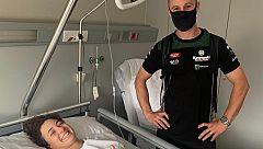 El campeón del mundo, Jonathan Rea, visita en el hospital a Ana Carrasco