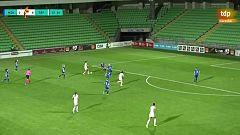 Mariona Caldentey marca el 0-7 con un disparo cruzado