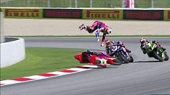 Bautista se fue al suelo cuando lideraba la 'Superpole race'