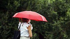 Precipitaciones localmente fuertes o persistentes en el interior de Galicia y León