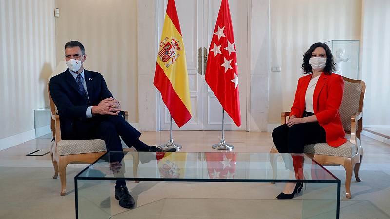 Sánchez y Ayuso se reúnen para mejorar la coordinación en la lucha contra la COVID-19 en Madrid