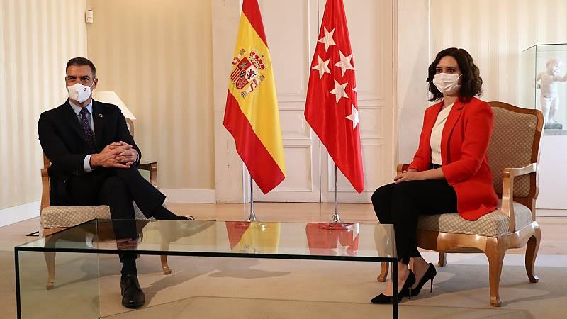 Sánchez y Ayuso pactan crear un Grupo COVID-19 para hacer frente a la pandemia en Madrid