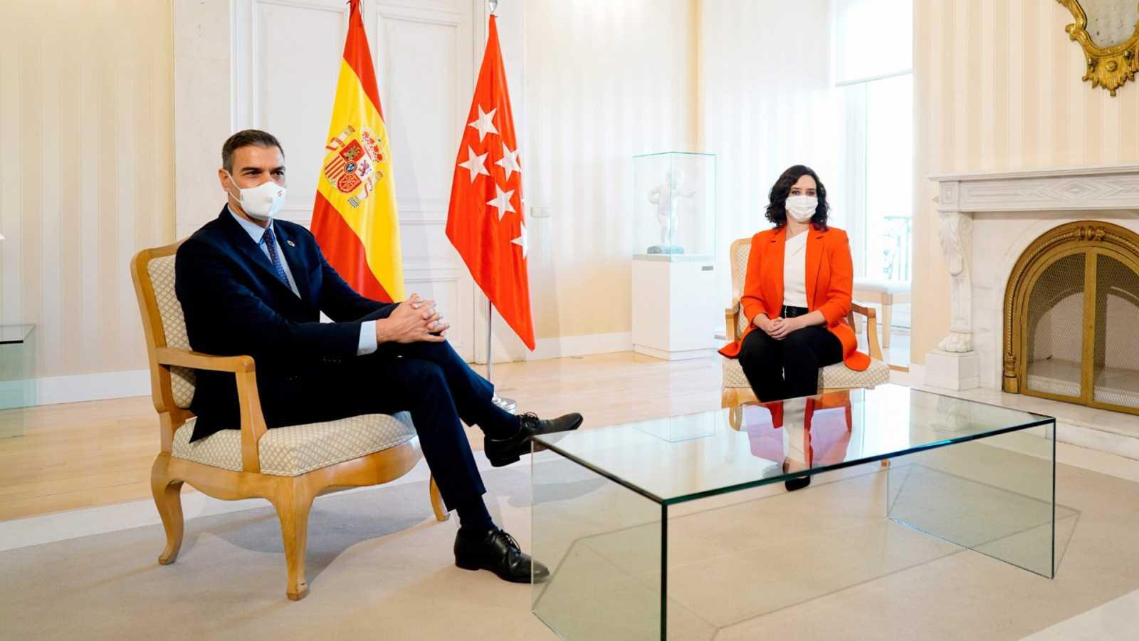 """Sánchez y Ayuso pactan colaborar en una lucha """"epidemiológica, no ideológica"""""""