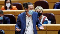 """Iglesias responde a la interrupción en el Senado: """"El nivel de desfachatez en sede parlamentaria tiene pocos precedentes"""""""