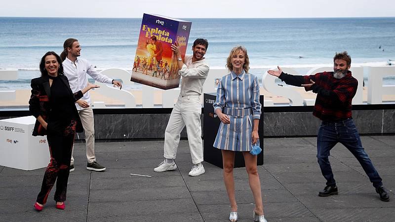 'Explota explota', el musical con canciones de Rafaella Carrá, se ha presentado en San Sebastián