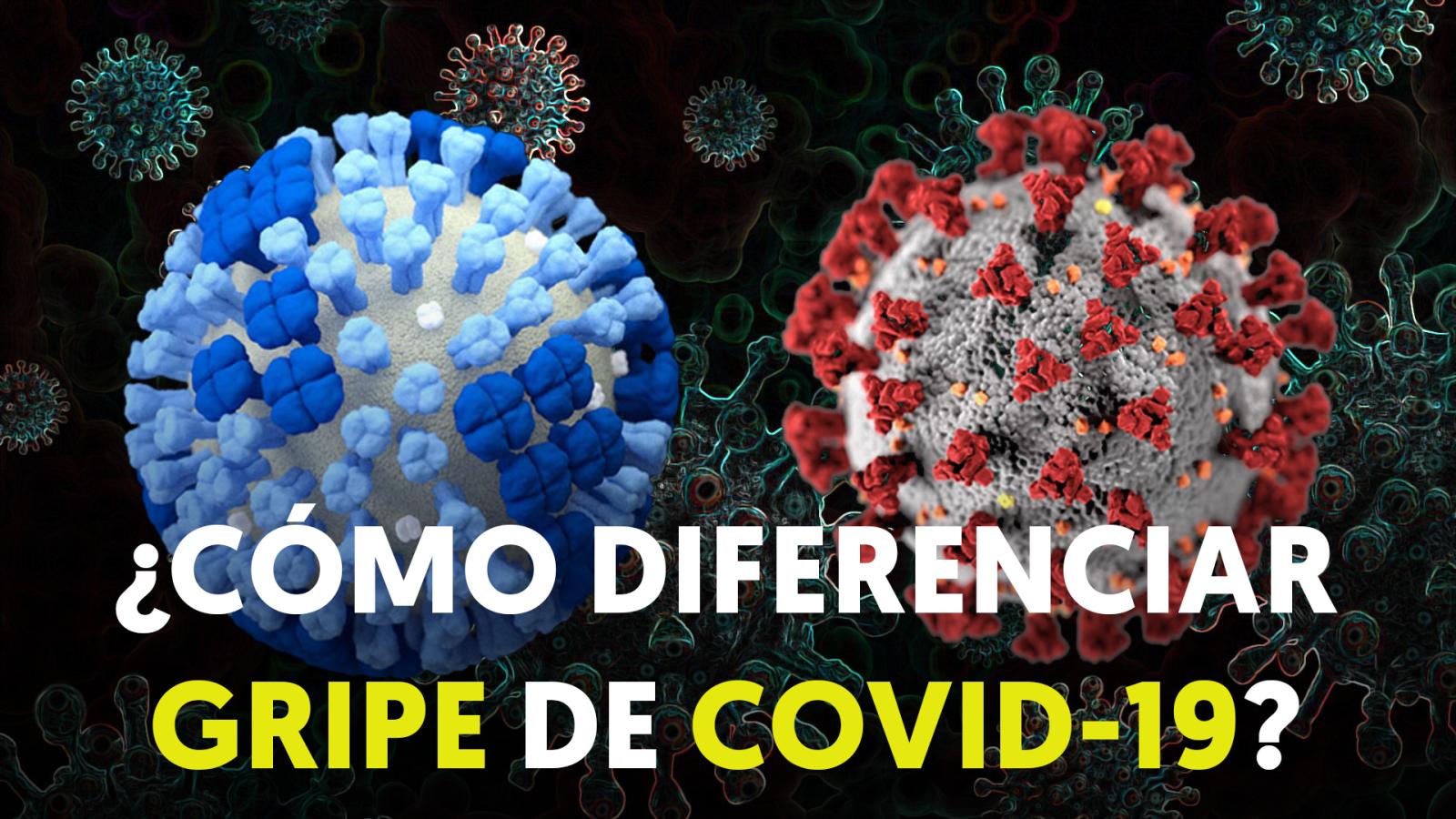 ¿Cómo diferenciar gripe y COVID-19?