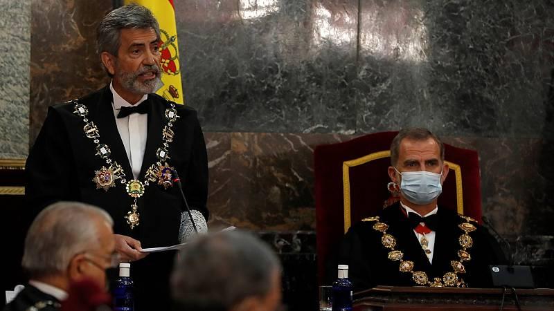 El ministro Campo acompaña al rey en plena polémica por su ausencia en acto judicial de Barcelona