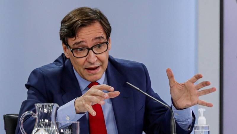 """Salvador Illa asegura que """"el 'grupo COVID-19' va a seguir funcionando"""", a pesar de las discrepancias entre el Gobierno y la Comunidad de Madrid"""