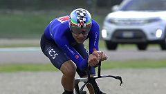 Filippo Ganna supera la mejor marca y consigue el oro en la crono de Imola