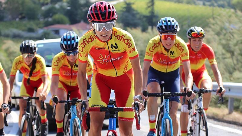 Así preparan las chicas de la selección la prueba en ruta de los Mundiales de Ciclismo 2020