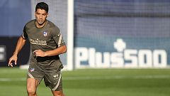 Luis Suárez ya entrena con el Atlético de Madrid