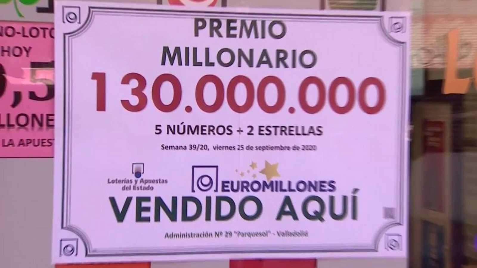Un vecino de Valladolid gana el premio histórico de 130 millones del Euromillones