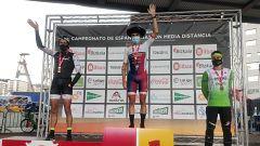 Gómez Noya, feliz por su victoria en el Campeonato de España Media Distancia